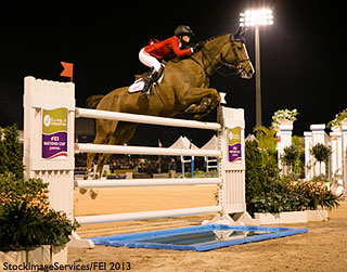 FEI Photo of Reed Kessler (USA) and Cylana at the Furusiyya FEI Nations Cup in Wellington, Florida (2013)