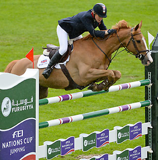 Laura Renwick and sure-footed Oz de Breve clinched the British win in St. Gallen and are listed to defend the home turf.   Photo: © Katja Stuppia/FEI.