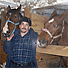 10 chevaux et 1 home, 10 horses and 1 man