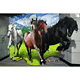Frighteningly realistic 3D horse paintings scare the life out of Beijing commuters