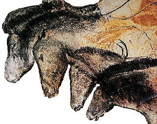 "The Chauvet-Pont-d'Arc Cave in southern France contains some of the earliest known cave paintings  (c. 30,000 BC), including the ""Horse Panel"" with four horse heads drawn in different equine attitudes. Wikimedia / Public Domain"