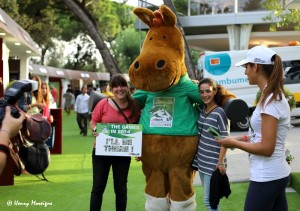 crowd-pleasing WEG mascots - FEI President Haya at the Nations Cup Finals 2013 - Photo courtesy of Henry Moreigne - © HMP Photography