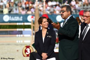 FEI President Haya at the Nations Cup Finals 2013 - Photo courtesy of Henry Moreigne - © HMP Photography