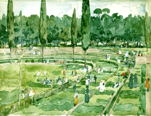 "Piazza di Siena in 1898 - ""The Race Track"" by Maurice Prendergrast (Piazza Siena, Borghese Gardens, Rome)"