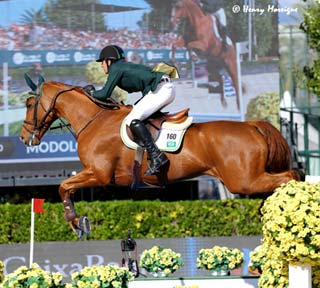 Young Brazilian Marlon Zanotelli and CLOWNI at the FEI Nations Cup Finals - Photo: © Henry Moreigne Photography (HMP)