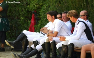 Team riders relaxing ringside before the inaugural Furusiyya FEI Nations Cup Finals 2013 - Photo courtesy of Henry Moreigne - © HMP Photography