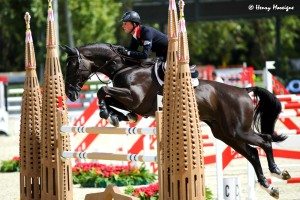 The Golden Brits Ben Maher and TRIPPLE X took down 2 fences in the Qualifier and ended as the drop score (3 of the 4 horse/rider scored are counted). - Photo courtesy of Henry Moreigne - © HMP Photography