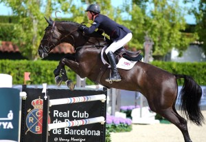 When Ben Maher (GBR) was asked about his top horse TRIPPLE X's substandard performance, he claimed 'the heat' affected his horse as the dark stallion is sensitive to temperature. - Photo courtesy of Henry Moreigne - © HMP Photography