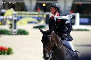Ben Maher were first out for Great Britain but took 2 fences with his Olympic Gold Medal-winning mount, TRIPPLE X. - Photo courtesy of Henry Moreigne - © HMP Photography