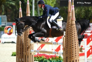 France opened with the first clean round of the competition ... but an unfortunate 8 faults by Aymeric de Ponnat and ARMITAGES BOY put Qualification for Sunday in jeopardy. - Photo courtesy of Henry Moreigne - © HMP Photography
