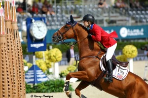 USA Team newcomers Lucy Davis and BARRON set off on the biggest course of their careers. - Photo courtesy of Henry Moreigne - © HMP Photography