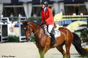 A fantastic clean round by Beezie Madden and SIMON almost carried the USA into Sunday's Final ... but though the Americans were equal on 9 faults with Canada and Ukraine, their combined time was slower which edged them into the Consolation Round on Saturday. - Photo courtesy of Henry Moreigne - © HMP Photography